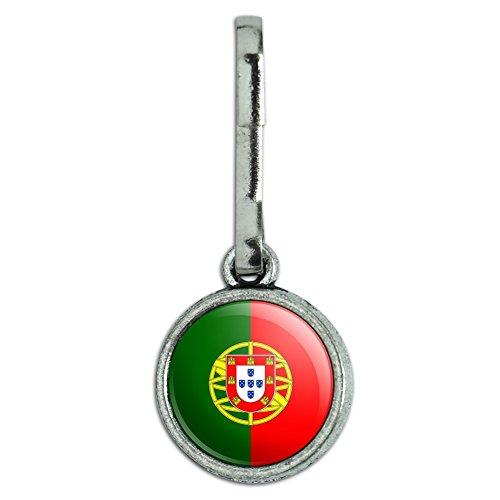 Antik Charm Kleidung Geldbörse Gepäck Rucksack Zipper Pull Land National Flagge o-s Portugal National Country Flag (Mantel Portugal)
