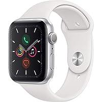 Apple Watch Seri 5 GPS 44mm Gümüş Alüminyum Kasa ve Beyaz Spor Kordon MWVD2TU/A