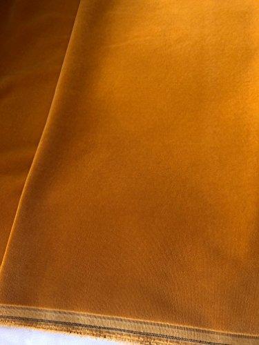 Baumwollsamt - Samt Stoff mit Goldkante, 460gr / 150cm breit, Farbe 9655 - maisgelb - Meterware