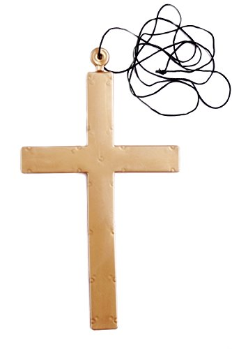 DRESS ME UP - Karnvelsartikel Accessoire Kreuz Plastikkreuz für Priester, Mönch, Exzorzist - Exorzist Kostüm Priester
