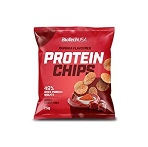 5 x Biotech USA Protein Chips, 25g Beutel , Paprika (5er Pack)