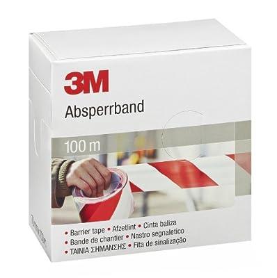 3M Absperrband, 70 mm x 100 m, rot / weiß, 596615