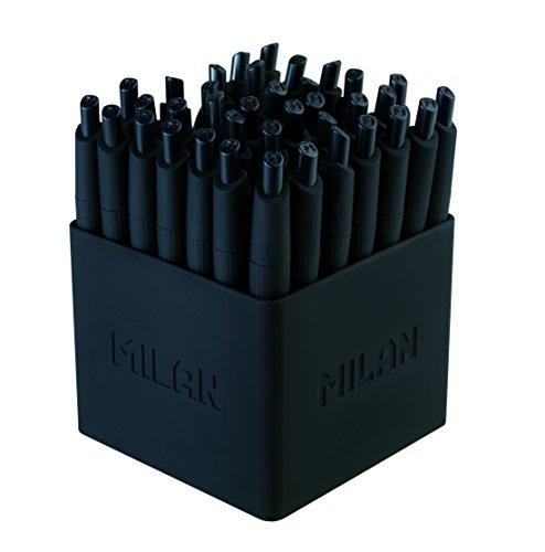 Milan Mini P1 Touch color negro Bote con 40 bol/ígrafos