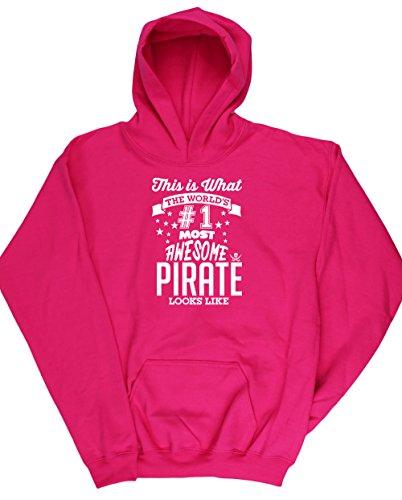 Hippowarehouse Mädchen Kapuzenpullover Gr. 4 Jahre, fuchsia (Hat Pirate Caribbean Kind)