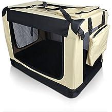 Auralum® 70×52×52cm Jaulas plegables para Perreras Portátil Multi-función de la Jaula Plegable del Animal Doméstico para los iajes en Coche (para perros pequeños),Khaki