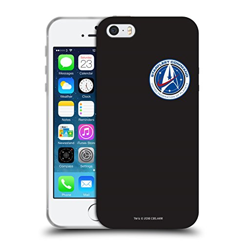 Iphone Star Bei 5 Trek (Offizielle Star Trek Discovery Starfleet Klein Badges Soft Gel Hülle für Apple iPhone 5 iPhone 5s iPhone SE)