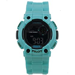 Cool Watch Boy Pilot Blue Plastic Digital Watch 10 ATM CW. 275