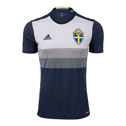 adidas SVFF Schweden Auswärtstrikot UEFA Euro 2016 (M) grau - grau - Groß