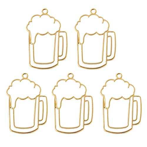 FURU Metals Frames Formen Für Halsketten,5 Stücke Beer Tumbler Harz Blank Frame Anhänger Offene Lünette Einstellung Schmuck Machen - Cameo Tumbler