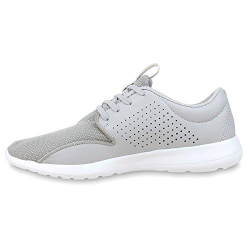 Cultz baskets homme chaussures baskets chaussures basses de cordes en plusieurs couleurs 40–45 Gris - Gris clair