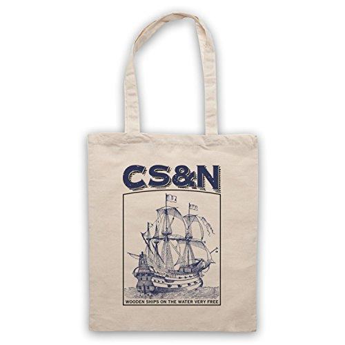Inspiriert durch Crosby Stills & Nash Wooden Ships Inoffiziell Umhangetaschen Naturlich