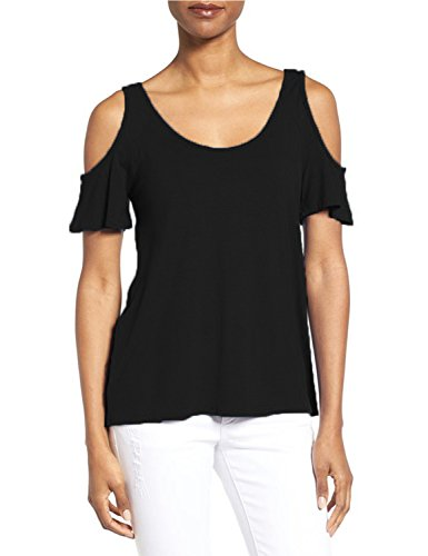 Blooming Jelly - T-shirt - Uni - Manches Courtes - Femme Noir