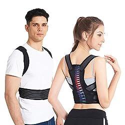 """Slimerence Rücken Haltungskorrektur, Haltungskorrektor für Wirbelsäule und Rückenstütze, Haltungstrainer für Damen, Herren und Child Lindert Rücken- und Schulterschmerzen M(24-29"""")"""