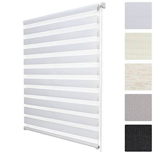 Sol Royal SolDecor DL2 Persiana doble estor enrollable noche y día klemmfix dormitorio oficina sala 40x150 cm Blanco