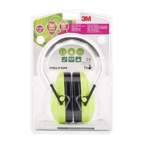 3M Peltor Kid Kapselgehörschützer für Kinder ab 2 Jahren, Lärmpegel bis 98 dB, sehr leicht, Grün 3 Ear-gels