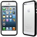 Bumper coque de contour avec boutons effet métalique pour iPhone 5/5S, Noir