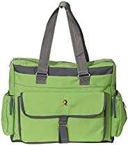 Vouch Bria Multipocket and Multipurpose Diaper Bag, Green