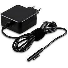 kwmobile cargador 5 Pin para Microsoft Surface Pro 3 / Pro 4 en negro - un rayo de carga rápida de 12V 2.58A (31W)