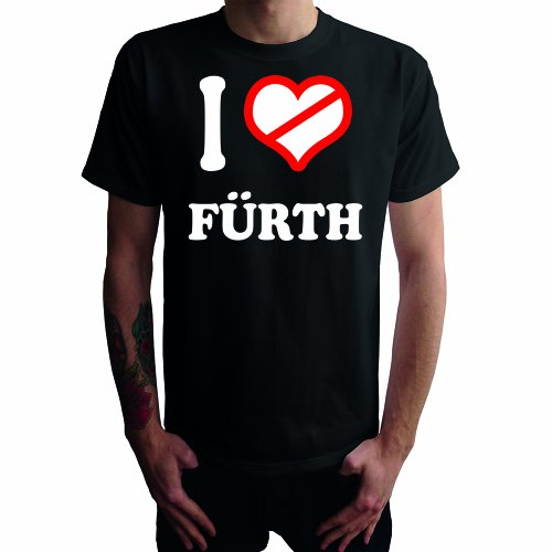 I don't love Fürth Herren T-Shirt Schwarz
