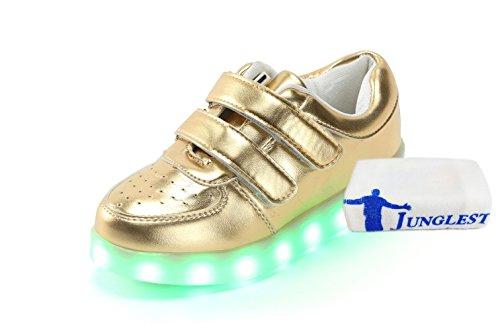 (Present:kleines Handtuch)JUNGLEST Damen Hohe Sneaker Weiß USB Aufladen LED Leuchtend Fasching Partyschuhe Sportsc c10