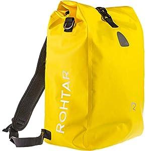 Rohtar 3in1 Fahrradtasche – wasserdicht & reflektierend – als Gepäckträgertasche, Umhängetasche & Rucksack einsetzbar…