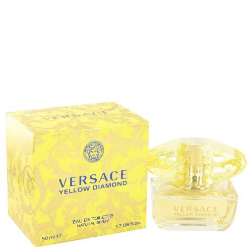 Versace Eau De Toilette Spray for Women, Yellow Diamond, 1.7 Ounce by Versace