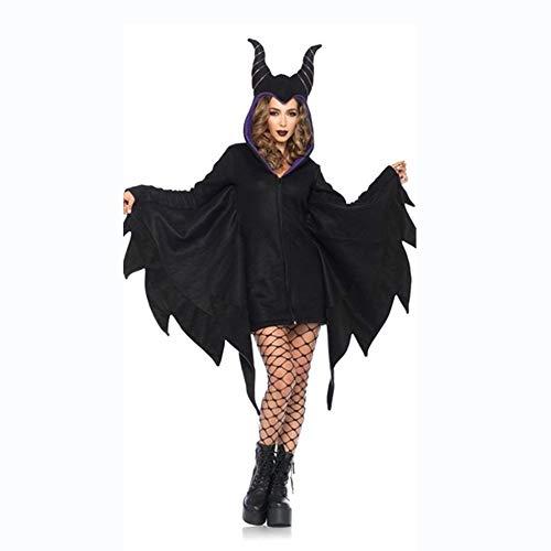 Shisky Halloween kostüm Damen, Halloween Fledermaus schlafen Fluch Horn Vampir Dämon ()