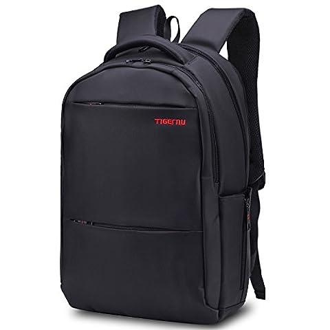 Norsens Leichtgewichtiger Rucksack passt bis zu 17-Zoll-Laptops/Notebook,Slim Business Rucksäcke Schwarz