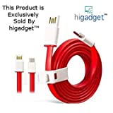 #9: Higadget™ USB Type C Cable Type C competible for OnePlus Two One Plus Two OnePlus 2 oneplus 3 Nexus 5X Nexus 6P New Macbook 12 inch ChromeBook Pixel Nokia N1 Tablet Asus Zen AiO Letv 1S letv 2 and Other Devices with Type C USB all usb type c devices- A+ Quality