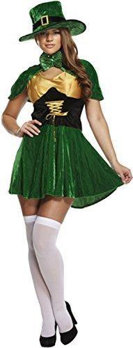 icks Tag Kobold Hut Kleid mit Cape Irland Irisch Nationalkostüm Feier Party Kostüm Kleid Outfit (St Patrick Tag Outfit)