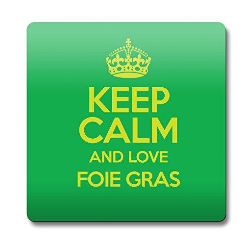 Grün Keep Calm und Love Foie Gras Untersetzer Farbe 2474 (Grünes Gras Mat)