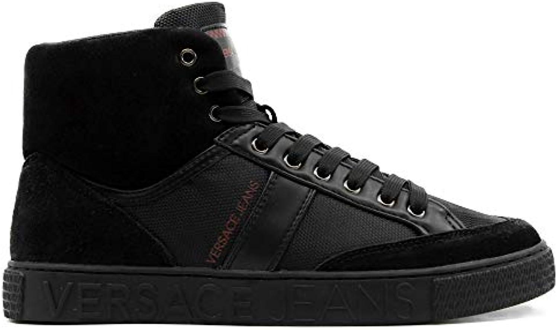 Versace Jeans scarpe da ginnastica Alta Nera in Pelle e camoscio   Acquisti    Sig/Sig Ra Scarpa