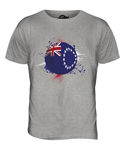 CandyMix Isole Cook Calcio T-Shirt da Uomo Maglietta Marne Grigio