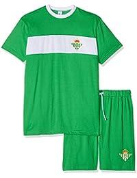 Real Betis Balompié Pijbet Pijama Corta, Infantil, Multicolor (Verde/Blanco),