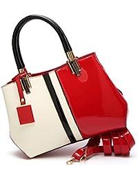 c44ffb367f7907 Fat rabbit Sacchetto del messaggero del sacchetto di spalla della borsa di  cuoio di vernice delle