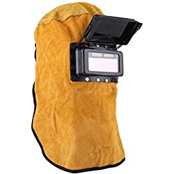 Casque de soudure de protection avec l'objectif de filtre assombrissant automatique, Masque en cuir durable de bonne qualité