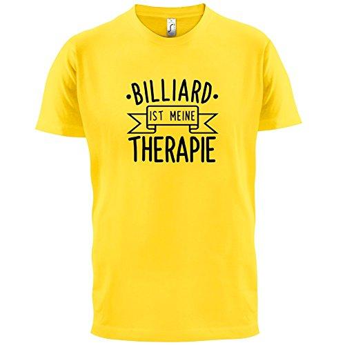 Billiard ist meine Therapie - Herren T-Shirt - 13 Farben Gelb