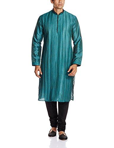 Peter England Men's Kurta Pyjama (8907411181538_PO51580333_Aqua_38)