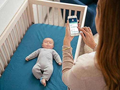 Owlet Smart Sock 2 Baby Monitor - Track Your Infant's Heart Rate & Oxygen Levels Owlet KNOW YOUR BABY IS OKAY: Track your baby's heart rate and oxygen levels while they sleep using clinically-proven pulse oximetry, and be notified if something appears to be wrong. WORRY LESS AND SLEEP BETTER: The Smart Sock connects to a base station that glows green letting you know everything is okay, but uses lights, sounds and app notifications if heart rate or oxygen levels are too high or too low. Parents can sleep better and have less anxiety knowing they'll be made aware if levels go outside of preset zones. CONVENIENT, EASY-TO-USE: Each unit includes 3 washable socks that comfortably wrap around the baby's foot and connect to a base station up to 100 ft. away using Bluetooth. Socks fit most infants from 0-18 months or 6-25 pounds and should be hand washed regularly and alternated from right to left foot each night. 6