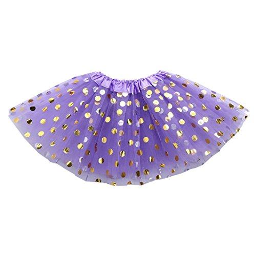 chen Punktdruck röcke Niedlich Mehrschichtig kleider kinder flauschig mode Tütü prinzessin party kleidung, 0-6 Jahren (2-6 Jahren, F) (F Party Kostüme)