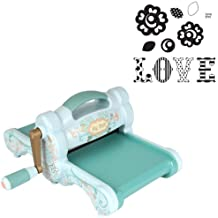 Sizzix 30301 Big Shot Cutting/Embossing Kit #1 with Machine and 'Love' Framelits & Stamps, Powder Blue/Teal by Sizzix