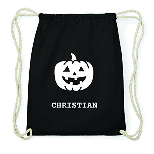 JOllify Turnbeutel Halloween für Christian - Kürbis