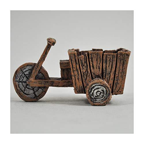 Jardín de hadas UK Mini tri-cart bicicleta de madera miniatura de jardín...