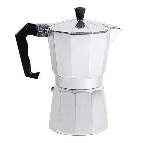 Macchina Per Caffè Espresso, Stile Italiano Ottagonale Casalingo Classico Alluminio Espresso Caffettiera Fornello 1/3/6/9/12 Cup Fornello Espresso Caffettiera Caffettiera Moka Macchinetta Latte Stufa