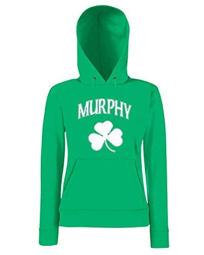 T-Shirtshock - Sweatshirt a capuche Femme TIR0153 murphy irish dark tshirt Vert