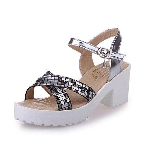 mode estivale Lady Sandals/Coréen loisirs Joker boucle sandales/Sandales à plateforme peep-toe B
