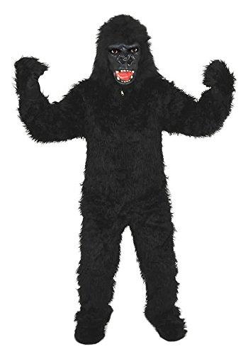 GORILLA SCHWARZ GR. XL - XXL AFFE KOSTÜM FASCHING KARNEVAL FASTNACHT - Affe Für Halloween Erwachsene Kostüm