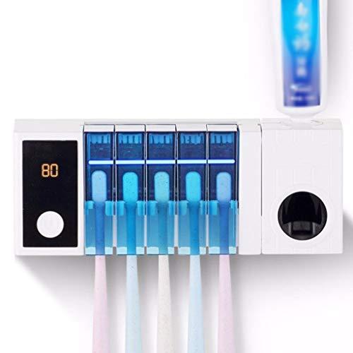 UV-Sterilisatoren UV Zahnbürstenhalter Sterilisator, Wandhalterung Auto Zahnpastaspender Squeezer für Bad, Kinder, beste Geschenk