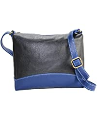 Fargo Couthy PU Leather Women's & Girl's Cross Body Side Sling Bag (Black,Blue_FGO-061)
