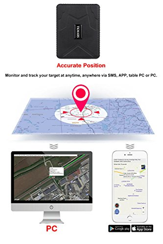 413hx5zo6UL - Hangang Rastreador GPS Magnético 120 días GPS Tracker en Espera, Localizador GPS a Prueba de Agua Dispositivo de Seguimiento en Tiempo Real Vehículo Automóvil con Camión para Auto GPS